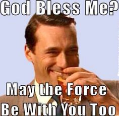 Atheism, Religion, God is Imaginary. God bless me? May the force be with you… Atheist Humor, Religious Humor, Atheist Quotes, Religious People, Atheist Beliefs, Sarcastic Quotes, Losing My Religion, Anti Religion, Secular Humanism
