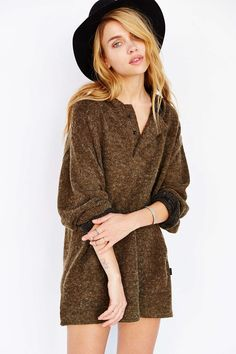 UNIF Hooded Poncho Sweater - Urban Outfitters