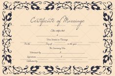 Marriage Certificate Template (Grey Gold, - Get high quality, professionally designed template. Templates are available in Word & PDF Formats. Certificate Format, Gift Certificate Template, Marriage Certificate, Certificate Design, Class Mission Statement, Free Printable Gift Certificates, Marriage License, Specialty Paper, Business Gifts