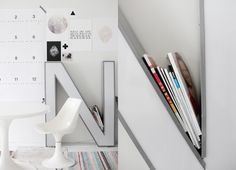 Really love this GIANT letter as decoration AND to hold some magazines!