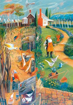 'Country Gardens' Published by Art Publishing (Australia). Distributed By Green Pebble. www.greenpebble.co.uk