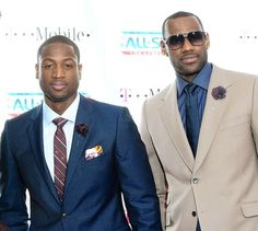 Dwayne Wade and Lebron James killin it with the get up. These gentleman sure know how to impress, both on and off court!