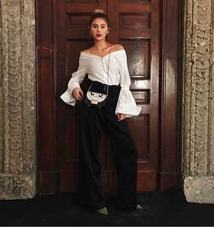 International influencer @stefaniegiesinger looking stunning yesterday at our FW17 collection presentation, while sporting an exclusive preview of #furla90anniversary capsule collection.  #bubbleoftime #furlafeeling #fashionweek #MFW17 #furlametropolis #stefaniegiesinger
