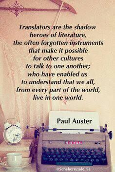 """""""...the often forgotten instruments that make it possible for other cultures to talk to one another..."""""""
