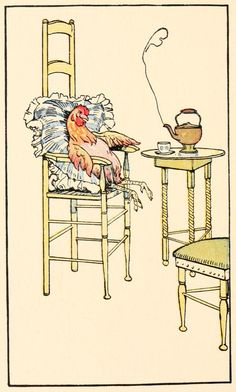 The Cock, the Mouse, and the Little Red Hen (1907) Illustrations by Tony Sarg (1882-1942)