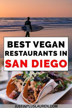San Diego is a really vegan friendly city with tons of vegan and vegetarian restaurants. Here are the top vegan San Diego restaurants for yummy plant-based meals. San Diego Vacation, San Diego Travel, San Diego Restaurants, City Restaurants, Vegan Cafe, Vegan Vegetarian, Best Vegan Restaurants, Vegan Fast Food, Buenos Aires