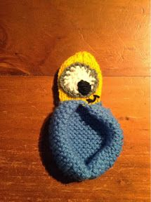 "At Home with the Lunchbox Guru: ""Despicable Me"" Minion Slippers - Knitting Pattern"
