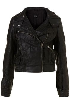 Faux Leather Bomber Jacket - Back In Stock - New In - Topshop USA - StyleSays