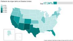 Las primarias se mudan a Florida y otros escenarios en los que los latinos juegan un papel determinante. Mira en este mapa interactivo cómo están repartidos los hispanos. En móviles, lo verás como un ránking.