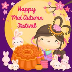 Why Mooncake is Important During the Mid-Autumn Festival Mooncake, Watercolor Cards, Watercolor Illustration, Chinese New Year Activities, Happy Mid Autumn Festival, Chinese Festival, Festival Background, Cute Fairy, Pink Lotus