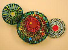 Art Glass & Ceramic Wall Art by Janine Sopp and Barbara Galazzo Ceramic Wall Art, Glass Wall Art, Glass Ceramic, Stained Glass Art, Mosaic Glass, Fused Glass, Mosaic Art, Mosaic Tiles, Modern Wall Sculptures