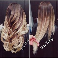 this is pretty honey dipped. not necessarily ombre, The only kind that seems to be classy. hair colors, straight blonde ombré, blonde ombre straight hair, straight hair ombre, ombre hair straight, honey ombre hair, curly hair, honey blonde ombre, straight blond ombre hair