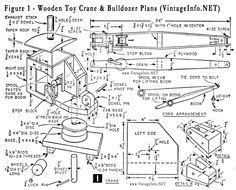 Wooden Toy Crane And Bulldozer Plans