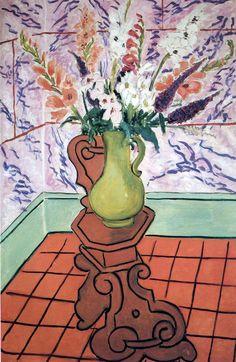 Still Life (Bouquet on stand) - Henri Matisse