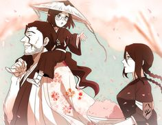BLEACH, Yadoumaru Lisa, Ise Nanao, Kyouraku Shunsui, Shinigami Uniform