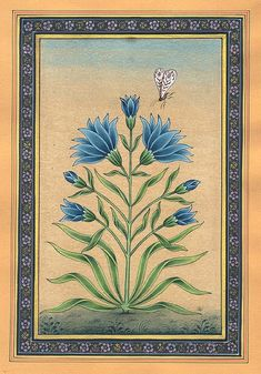 A Floral Delight, watercolor on paper, Mughal style