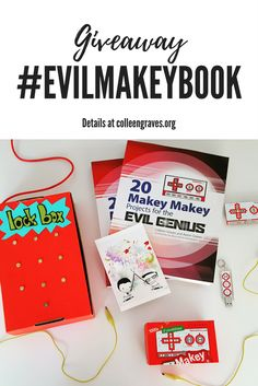 20 Makey Makey Projects for the Evil Genius is out! It is in full glorious color and in it we share fun project ideas on how to integrate lots of maker tools for your physical computing whims. We h…