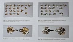 Silver floral fasteners from the Erfurt Treasure