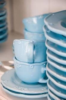 Townhouse blue crockery |