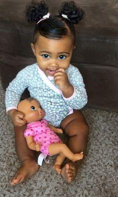 Cute Black Babies, Black Baby Girls, Beautiful Black Babies, Cute Baby Girl, Beautiful Children, Cute Babies, Baby Kids, Cute Toddler Hairstyles, Lil Girl Hairstyles