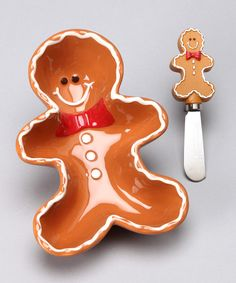Take a look at this Boston Warehouse Sugar & Spice Gingerbread Dip Bowl & Spreader on zulily today!