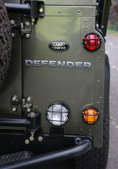 Defender 110 Rear Light Guards. Given my driving, a very good idea. Also the spare  wheel frame.