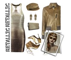 """""""Metallic Dress 😀"""" by ragnh-mjos ❤ liked on Polyvore featuring Halston Heritage, Eugenia Kim, Lanvin, Lucky Brand, Golden Goose, Alexander McQueen, contest, outfit and metallicdress"""