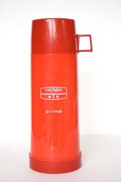Thermos or Vacuum Flask  'prima'  Bright Red