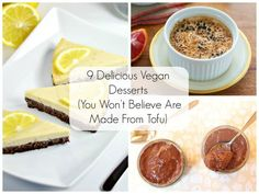 9 Delicious Vegan Desserts You Won't Believe Are Made From Tofu