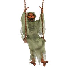 outdoor halloween decoration yard tree swing ghoul animated haunted house spooky collectibles holiday seasonal halloween ebay - Animated Halloween Decorations