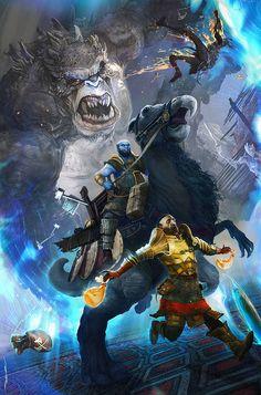 'Brok & Sindri' 'God Of War' fan art by Ertaç Altınöz Kratos God Of War, Gamer Tags, Alien Races, Video Game Art, Video Games, Pop Culture Art, Fantasy Dragon, Norse Mythology, Cultura Pop