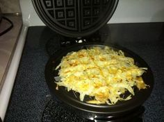 Made hashbrowns made in the wafflemaker this morning and its genius. Dalt asked for seconds!