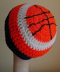 Free Crochet Basketball Hat Pattern.