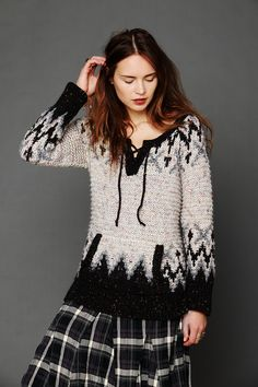 Free People Alpaca Fairisle Tunic Sweater, $248.00 | Knitspiration ...
