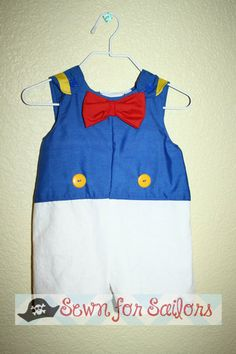Disney Donald Duck inspired jonjon/ outfit/ clothes/ romper/ costume/ clothes for toddler sizes