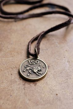 Mens Basic Zodiac Necklace  Choose Your Sign  Unisex by Keytiques