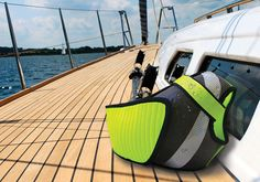 'IUW' not only functions as a flotation device but also aids the process of pulling the user out of water onshore.