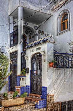 Doorway in Mojacar, Andalusia_ Spain