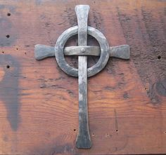 Celtic Cross Hand Forged In Iron