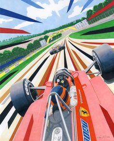 The Betrayal full size drawing by klem on DeviantArt Sport Cars, Race Cars, Motor Sport, Gilles Villeneuve, Car Illustration, Car Posters, Automotive Art, Vintage Racing, Car Pictures