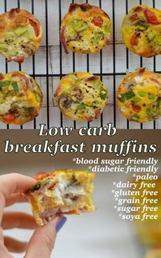 Low-carb, blood sugar friendly breakfast muffin recipe. This is free from any nasty additives and will keep you full until lunch!