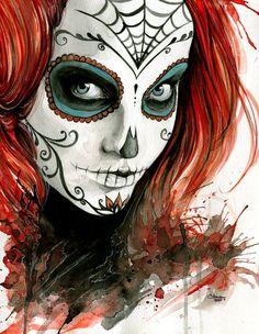 Dia de los Muertos by tsuyachan.deviantart.com on @DeviantArt