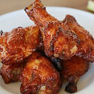 A tasty rub and 10 minutes' prep time make these barbecue baked chicken wings the ultimate finger food! - Everyday Dishes & DIY USE MY RUB INSTEAD Dry Rub Chicken Wings, Baked Chicken Wings, Chicken Wing Recipes, Bbq Chicken Drumsticks, Bbq Chicken Rub, Dry Rub Wings, Teriyaki Chicken Wings, Chipotle Chicken, Chicken Dips