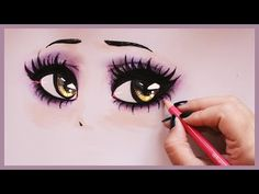 Drawing Tutorial ❤ How to draw and color Vampy Eyes - YouTube
