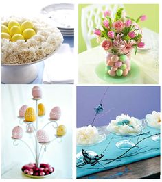 Beautiful Easter centerpieces