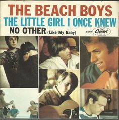 BEACH BOYS Little Girl I Once Knew GROUP SURF ROCK 45 RPM PICTURE SLEEVE RECORD