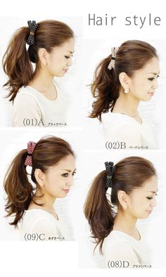 sweet-sheep | Rakuten Global Market: Dot ribbon banana clip ◆ barrette / banana clip / Lady's / ribbon / dot /Sweet & Sheep