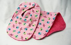 Bib and Burp Cloth  Ladybugs and Butterflies on by beyondquilts, $6.95, welcome baby, baby shower gift, gift for friend, gift for granddaughter. Pink, blue, yellow, green