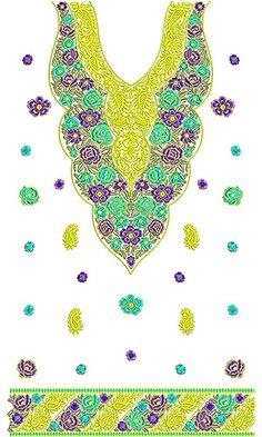 Cute Casual Dress Embroidery Design