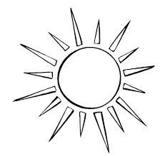 simple sun drawing black and white - Google Search